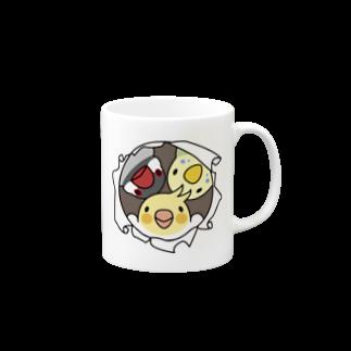 なかよしインコ【まめるりはことり】 マグカップ