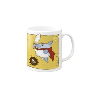勇者マンボウ イエロー Mugs