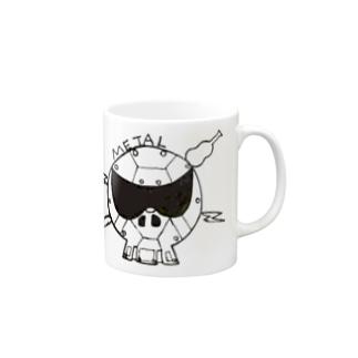 メタル スカル Mugs