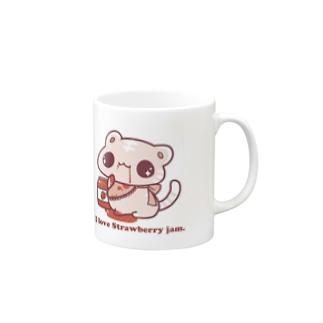 I love Strawberry jam. Mugs