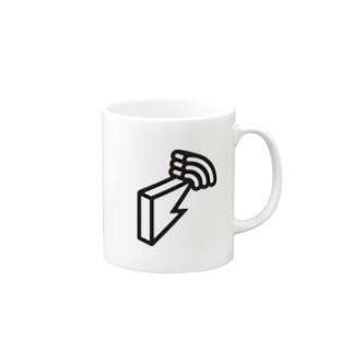 block.fmオフィシャルモノトーンロゴグッズ Mugs