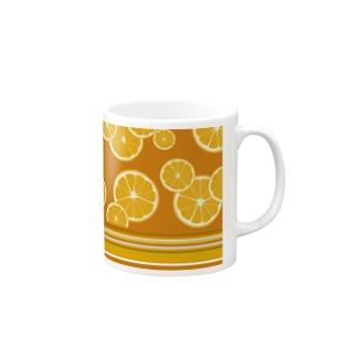 オレンジ柄✖︎マリーゴールド Mugs