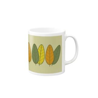 葉っぱちゃん 秋の色 Mugs
