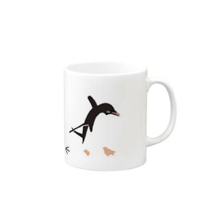 アデリーペンギン 足跡 Mugs
