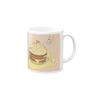 ネコハンバーガー Mugs