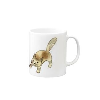 闘うねこ Mugs