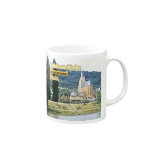FUCHSGOLDのドイツ:ライン川と教会 Germany: Church at Rhein/ Oberwesel Mugs