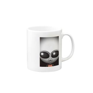 リアルグレー Mugs