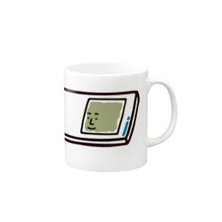 うえたに夫婦のキャラNo.57プレパラートくん(スライドガラスとカバーガラスくん) Mugs