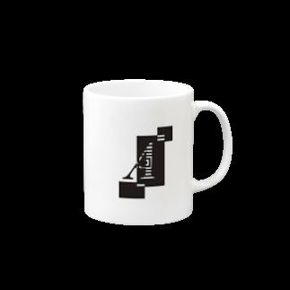 シンプルデザインアルファベットAワンポイント マグカップ