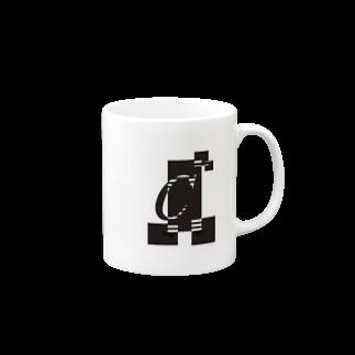 シンプルデザインアルファベットCワンポイント マグカップ