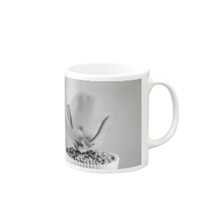 多肉植物A black and white Mugs