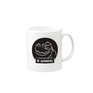 B-ANIMAL ワニ Mugs