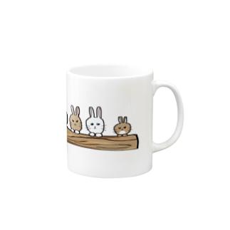 (・×・)ウサウサウサ Mugs