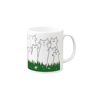 ニョキニョキのびネコさん Mugs