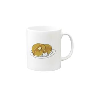 ホットケーキとのびネコさん Mugs