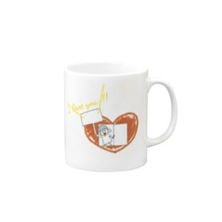 心の窓から愛を叫ぶ Mugs