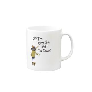 明るい表通りで Mugs