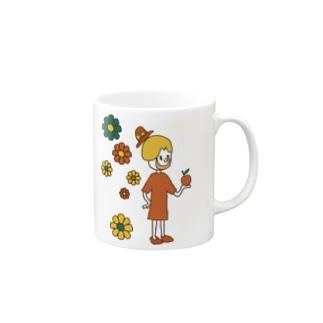ハッピーガール Mugs