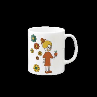 Shinnosuke Konoのハッピーガール Mugs
