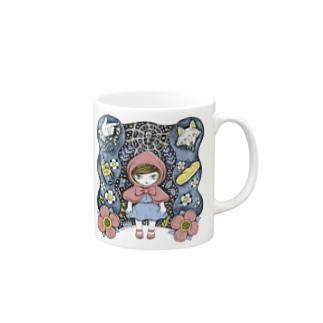 赤ずきんの森PINK マグカップ