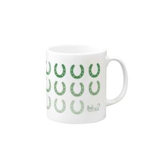 蹄鉄モノグラム(グリーン) マグ Mugs