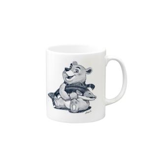 Tatsuya Artistのバーニーベア Mugs