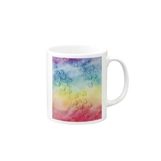 油絵「かける」 Mugs