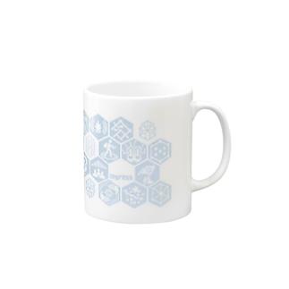 INGRESSバッチスタイル/青 Mugs