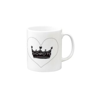 王冠👑ブラックver Mugs