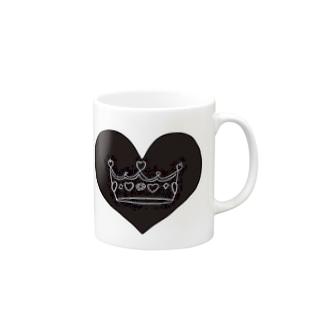 王冠👑真っ黒ver Mugs