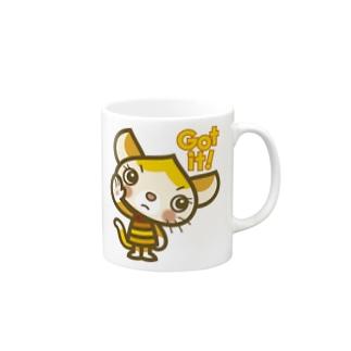 """マロンヘッドのネコ""""Got it"""" Mugs"""