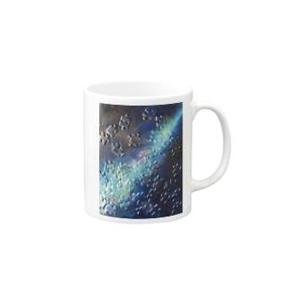 アトリエいろりの油絵「宇宙(そら)」 Mug