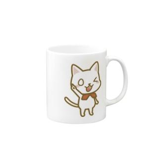 白ねこ公式キャラクター Mugs