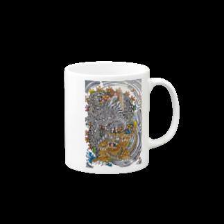 🔥Ryuu🔥絵描き師🔥依頼はDMください😄の龍と虎 Mugs