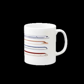 karaimenのしんかんせんモチーフのコップ Mugs
