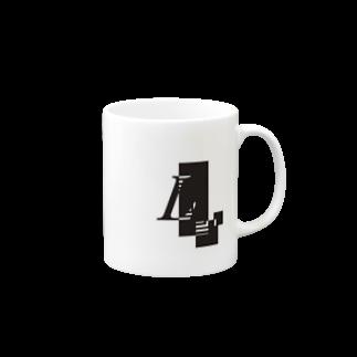 シンプルデザインアルファベットLワンポイント マグカップ