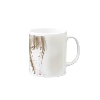 おさげの子 マグカップ