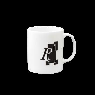 シンプルデザインアルファベットRワンポイント マグカップ