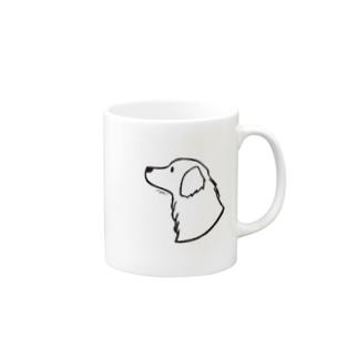 ゴールデン・レトリーバー〈線〉 Mugs