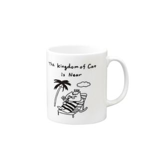 CAT IS GOD (ネコの国は近づいた) Mugs