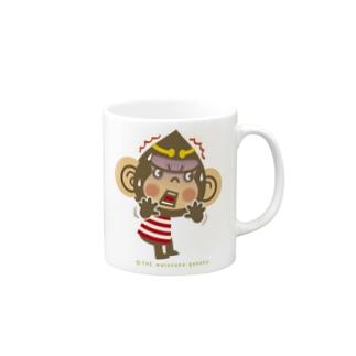 """ドングリ頭のチンパンジー""""ビックリ"""" Mugs"""