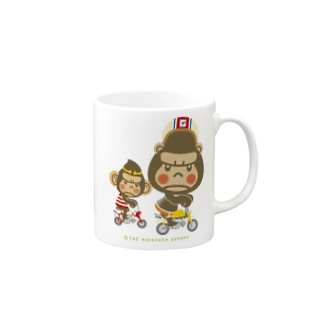 "ぽっこりゴリラ""Motor cycle -  gorilla & monkey"" Mugs"