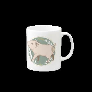 Lichtmuhleのミニブタさんイラスト Mugs
