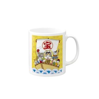 七福にゃん Mugs