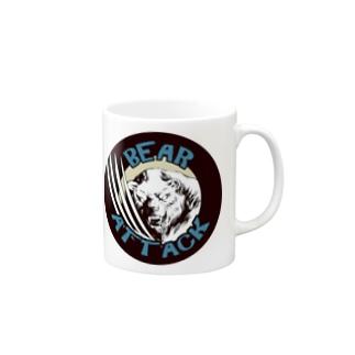 ベアアタックロゴシリーズ1 Mugs