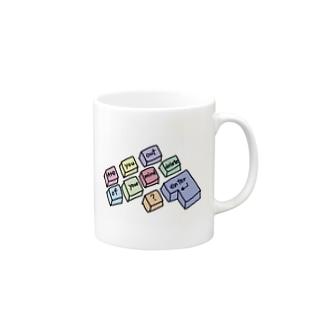 カラフルキーボード Mugs