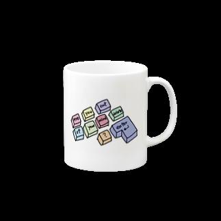 247_Zsのカラフルキーボード Mugs