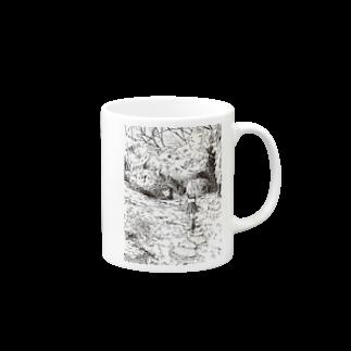 どせいのわっかの森の道 Mugs