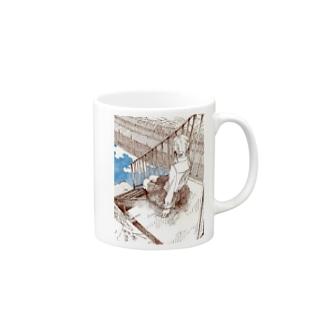 川沿いの Mugs